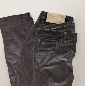 Black Corduroy Skinny Pants